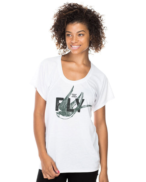 Spread Your Wings and Fly Flowy Raglan