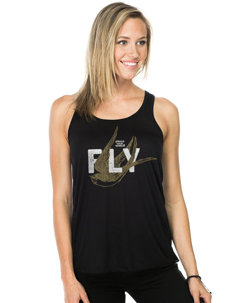 Spread Your Wings and Fly Flowy Racerback Tank