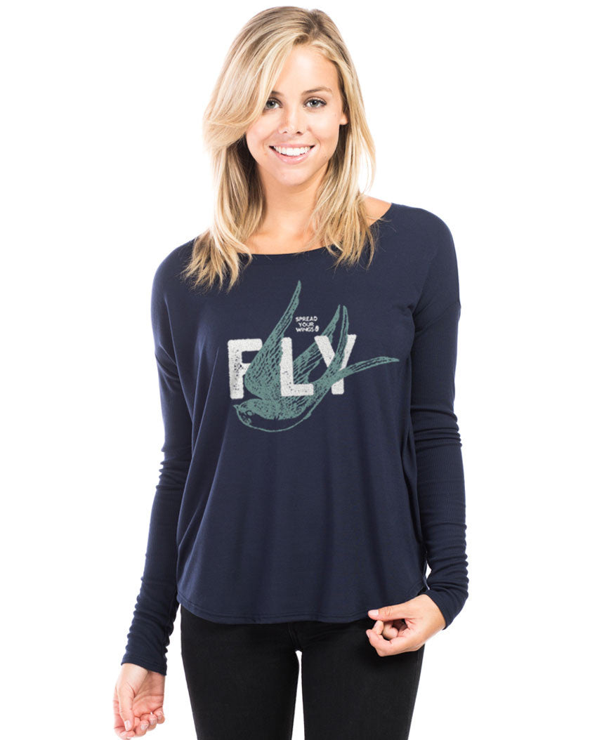 Spread Your Wings and Fly Flowy Long Sleeve Tee