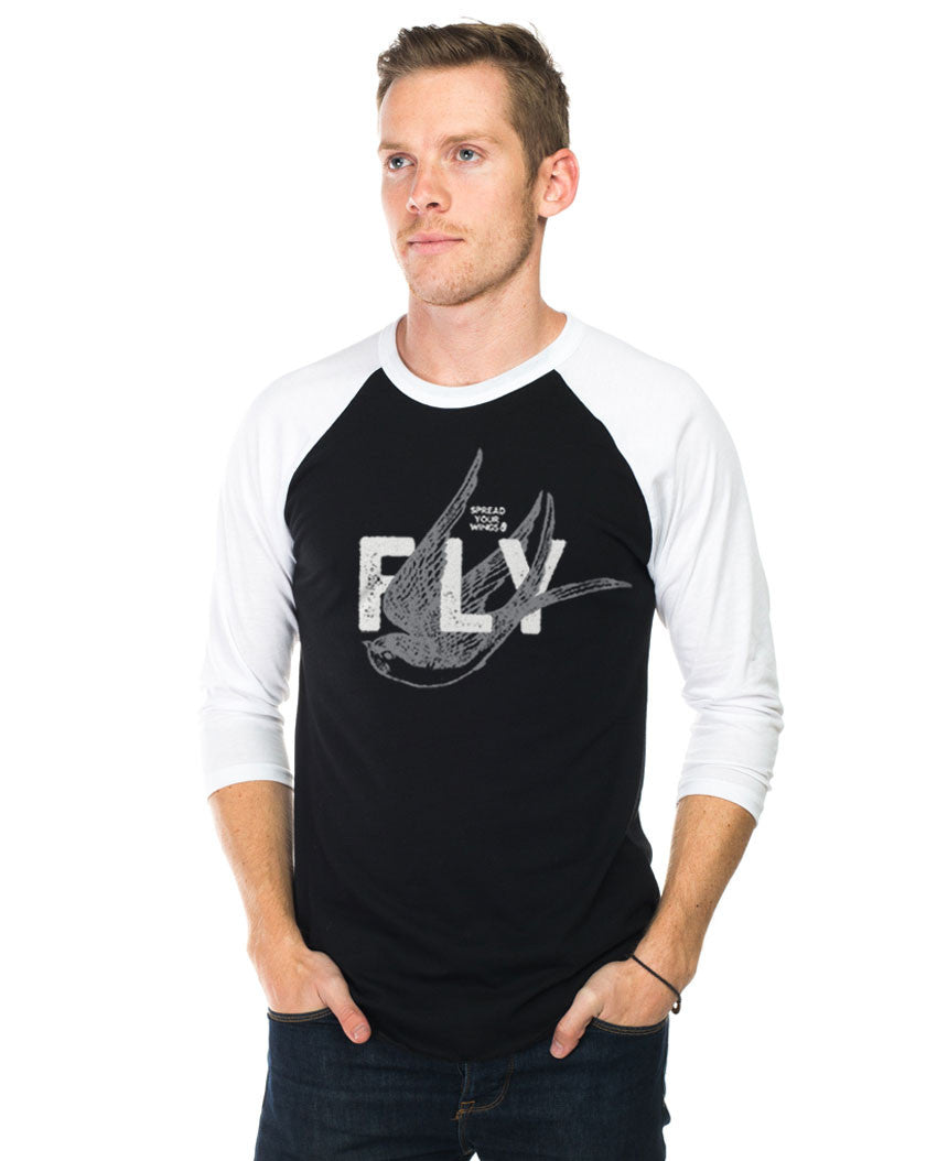 Spread Your Wings and Fly Unisex Baseball Tee