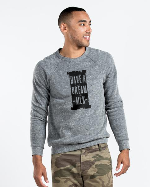 MLK I Have A Dream - Men's Premium Grey Crew Neck Sweatshirt