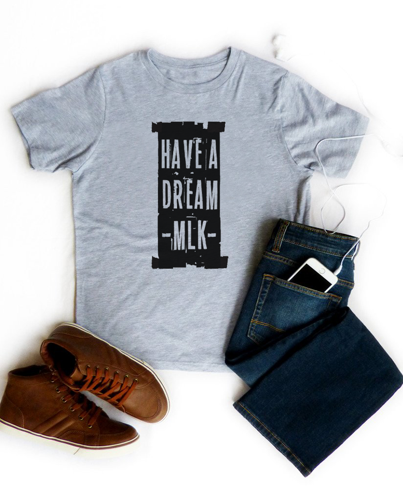 I Have A Dream Boys Grey Short Sleeve Tee