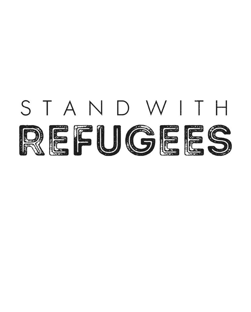 Stand With Refugees Flowy Dolman