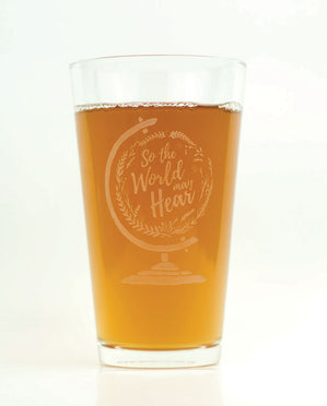 Hand-Etched, Limited Edition SO THE WORLD MAY HEAR Glassware