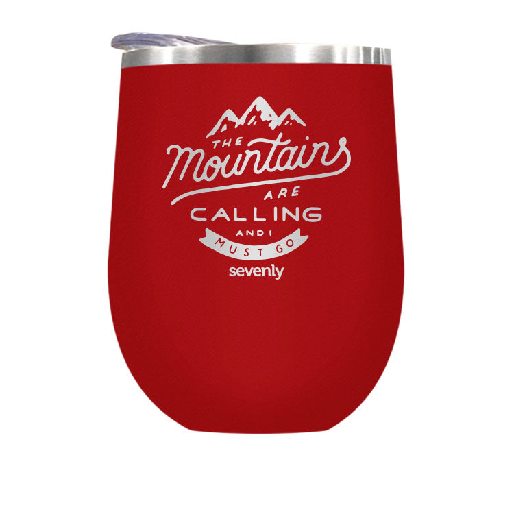Mountains Are Calling - Stemless Wine / Coffee / Hot Coco Tumbler Drinkware