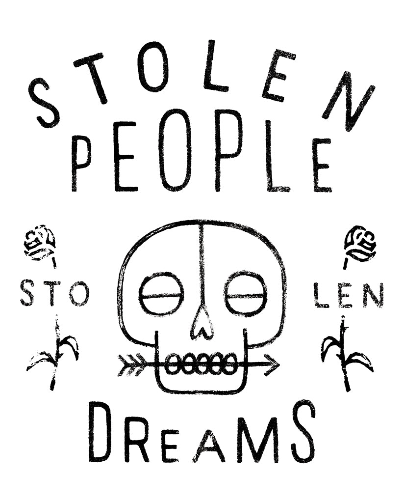 STOLEN PEOPLE STOLEN DREAMS Men's Grey Crew Neck Sweatshirt