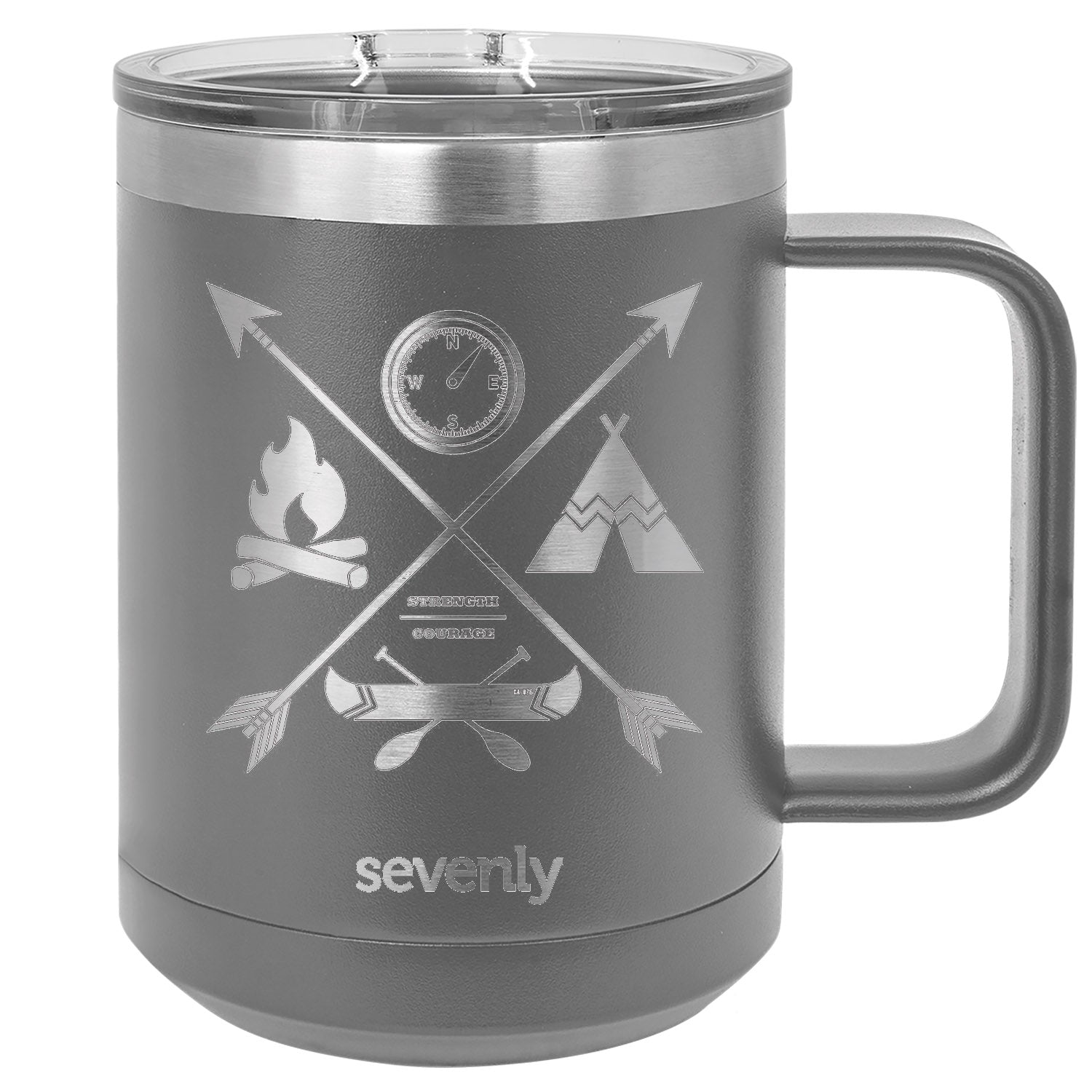 Bravery Badge Strength & Courage Insulated Mug Drinkware