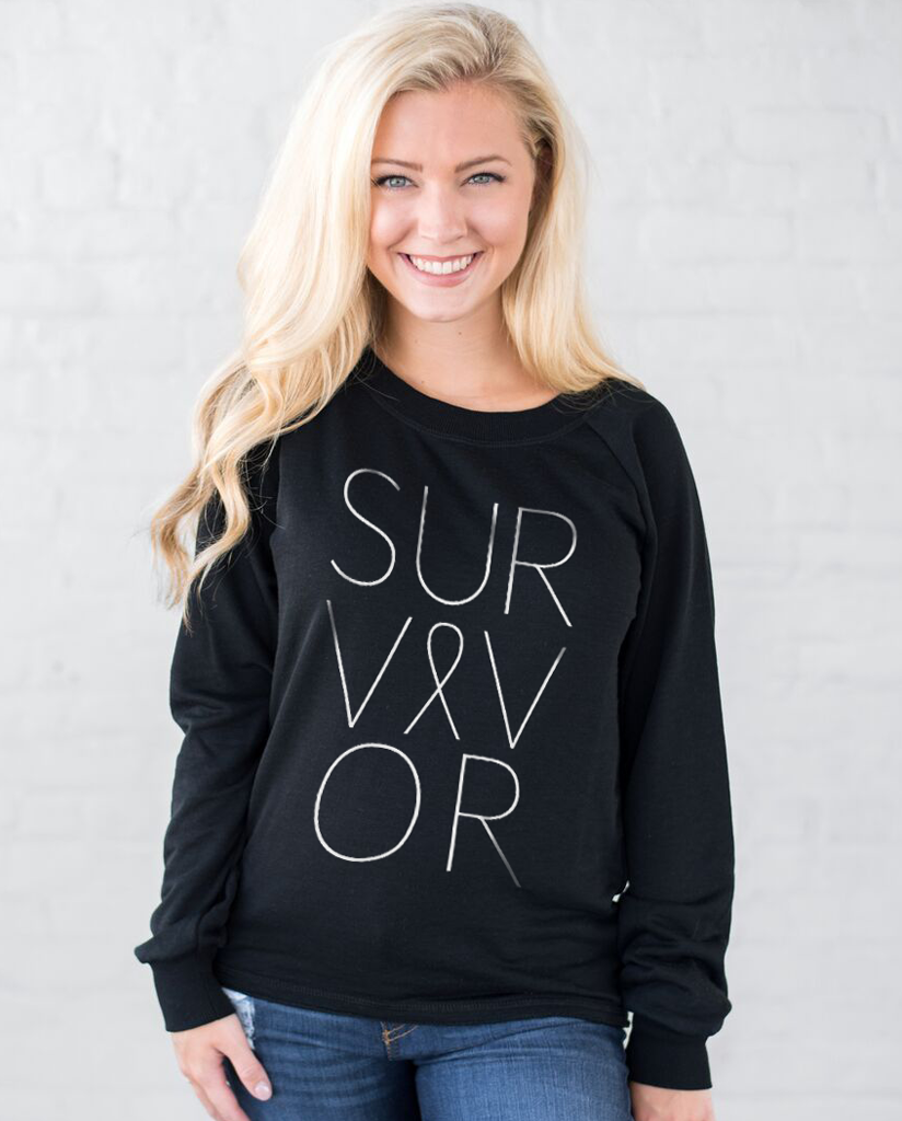 SURVIVOR Womens Slouchy Sweatshirt