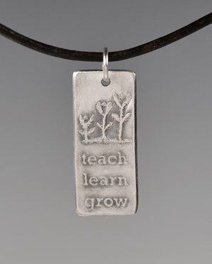 Aquilla TEACH, LEARN, GROW Sterling Silver Totem