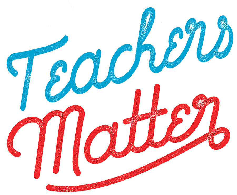 Teachers Matter Jumbo Cotton Canvas Tote Bag