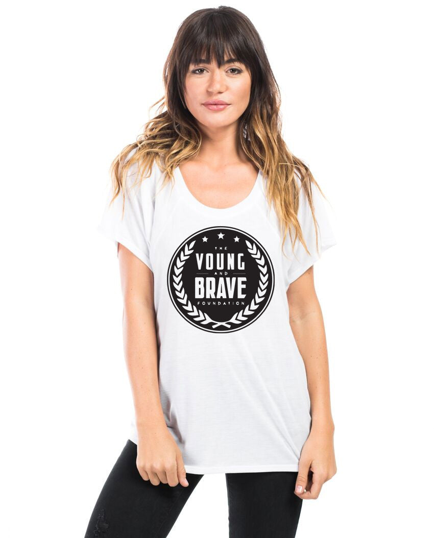 Young and Brave Flowy Raglan