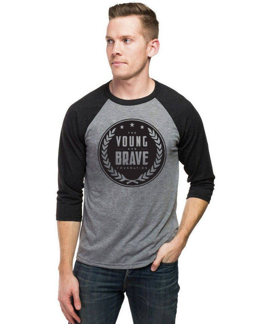 Young and Brave Unisex Baseball Tee