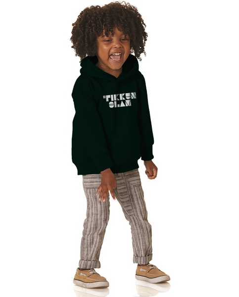 TIKKUN OLAM Kids Black Premium Pull Over Hooded Fleece