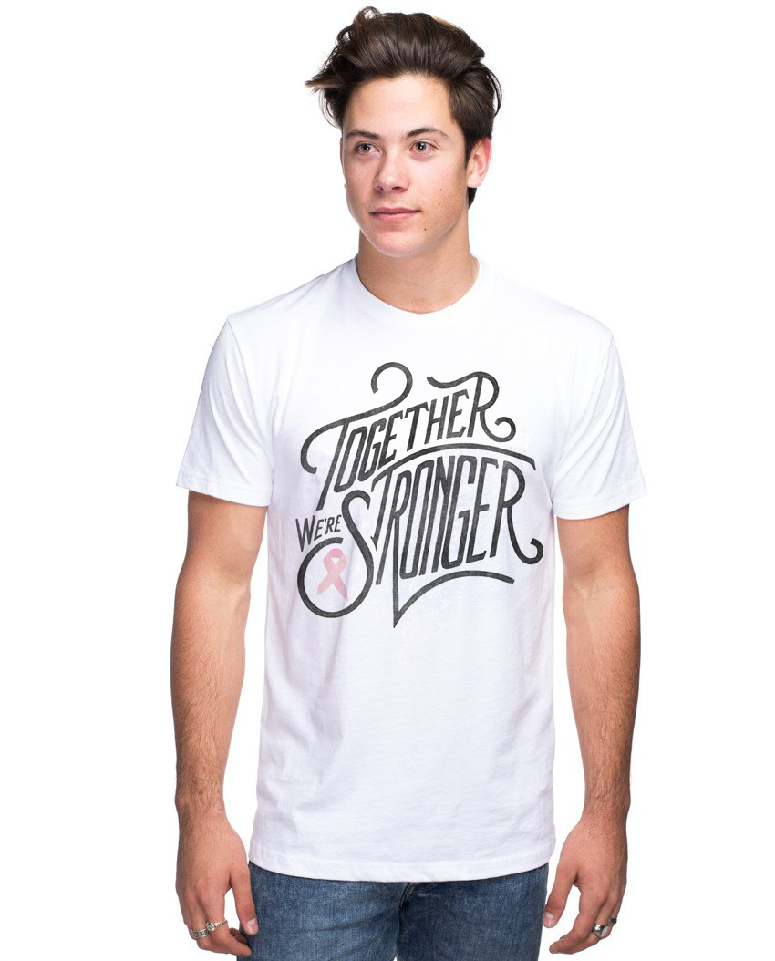 Together We're Stronger Breast Cancer Unisex Premium Crew Neck