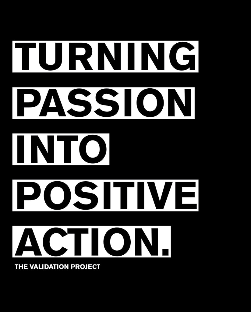 TURNING PASSION INTO POSITIVE ACTION Womens Black Flowy V-Neck