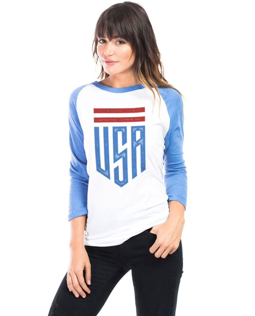 USA Shield Unisex Baseball Tee