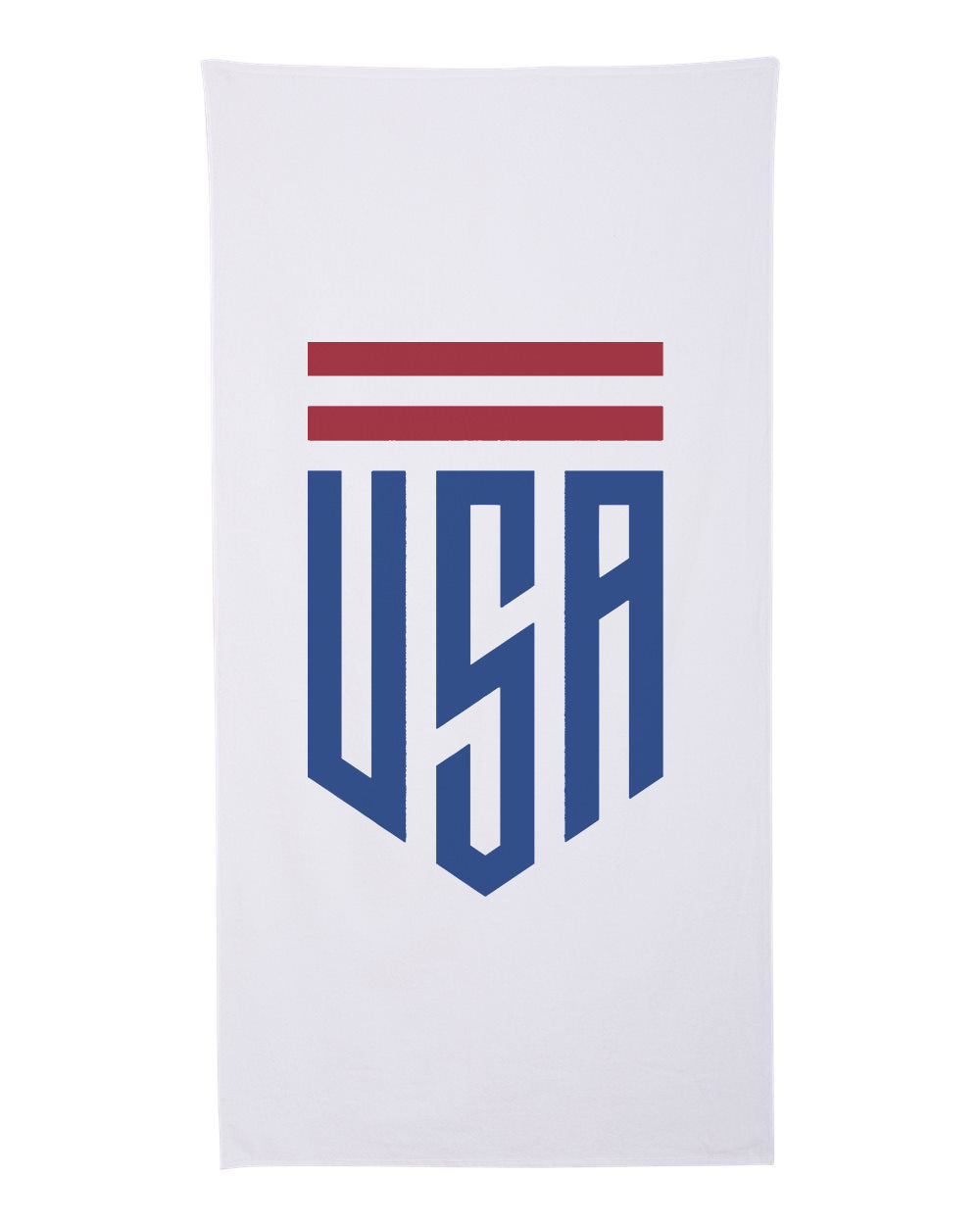 USA Shield Cotton Velour Beach Towel
