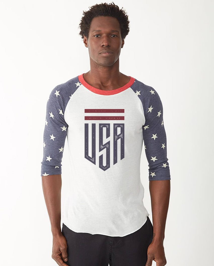 USA Star & Shield Baseball Tee