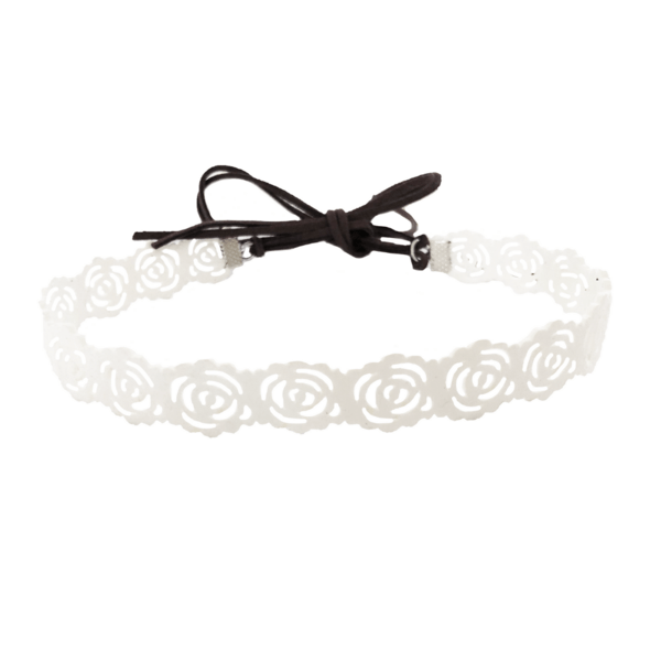 ROSE CHOKER IN WHITE by Headbands of Hope