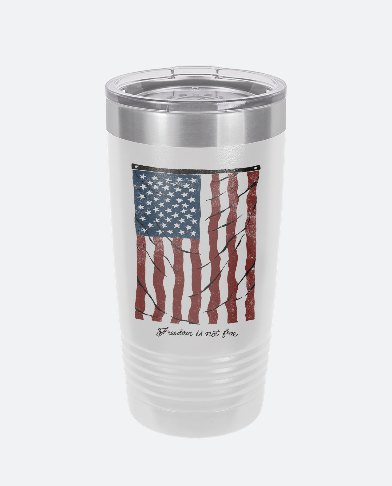 Vintage Flag Freedom Is Not Free Tumbler Drinkware