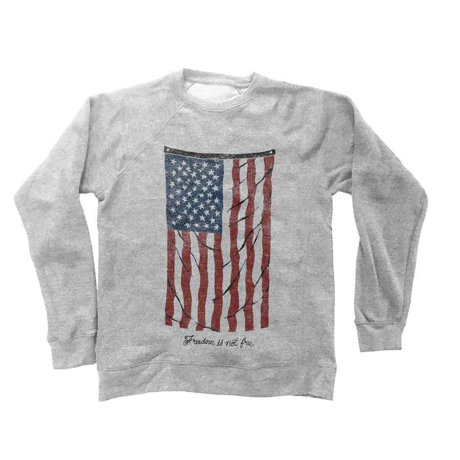 Vintage Flag Gift Set - Unisex Crewneck Sweatshirt & Jumbo Cotton Canvas Tote
