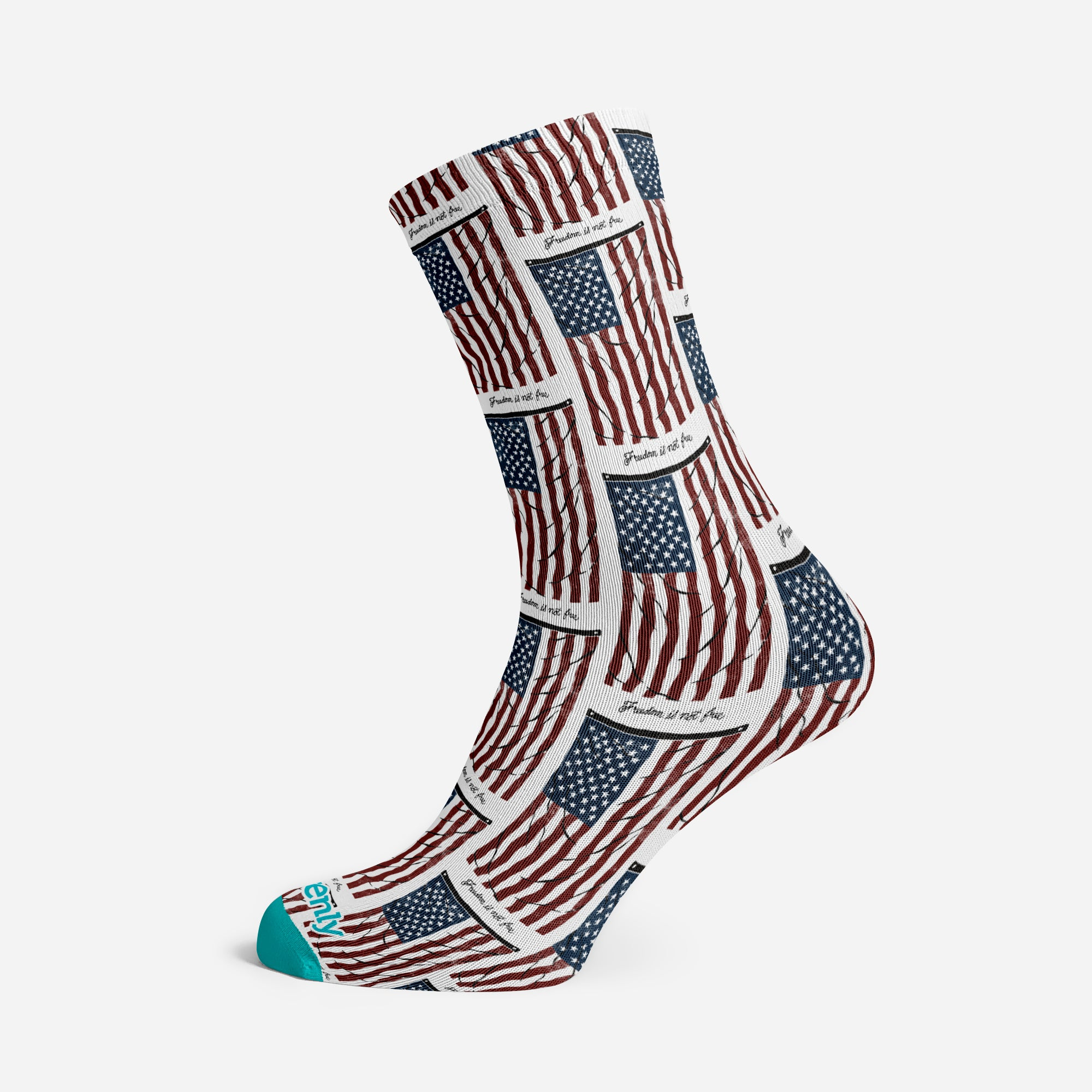 VINTAGE AMERICAN FLAG PREMIUM ADULTS SOCKS