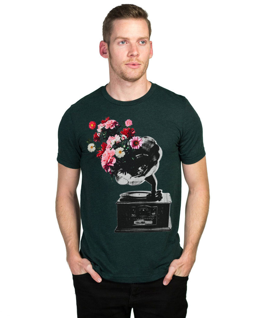 Vintage Phonograph Fitted Tee