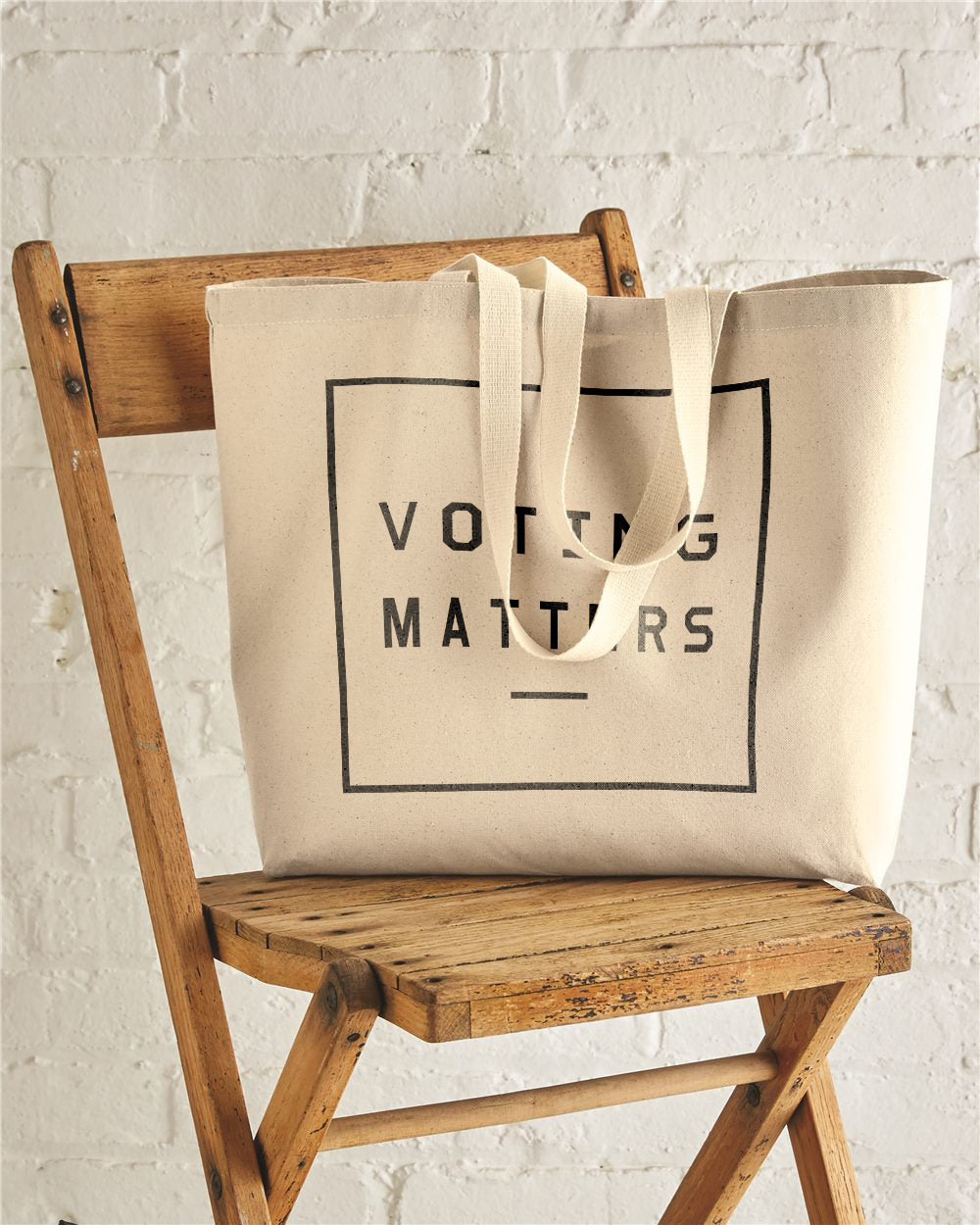 Voting Matters Jumbo Cotton Canvas Tote Bag