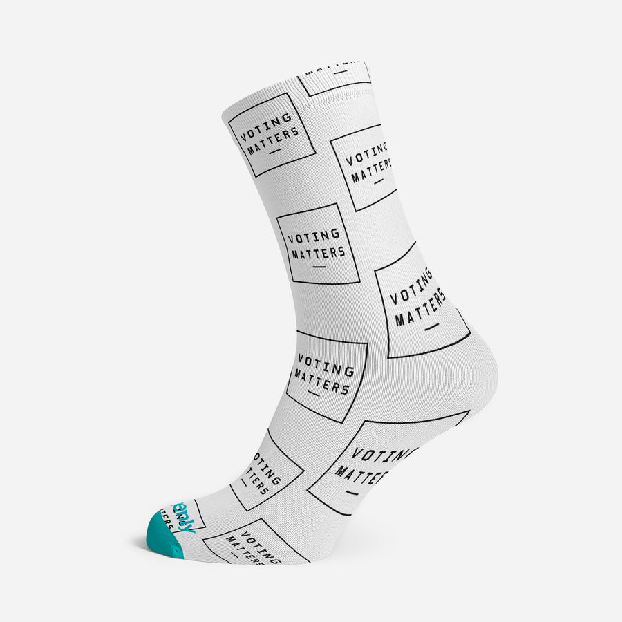 VOTING MATTERS PREMIUM ADULTS SOCKS