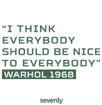 Warhol Everybody Should Be Nice Jumbo Cotton Canvas Tote Bag