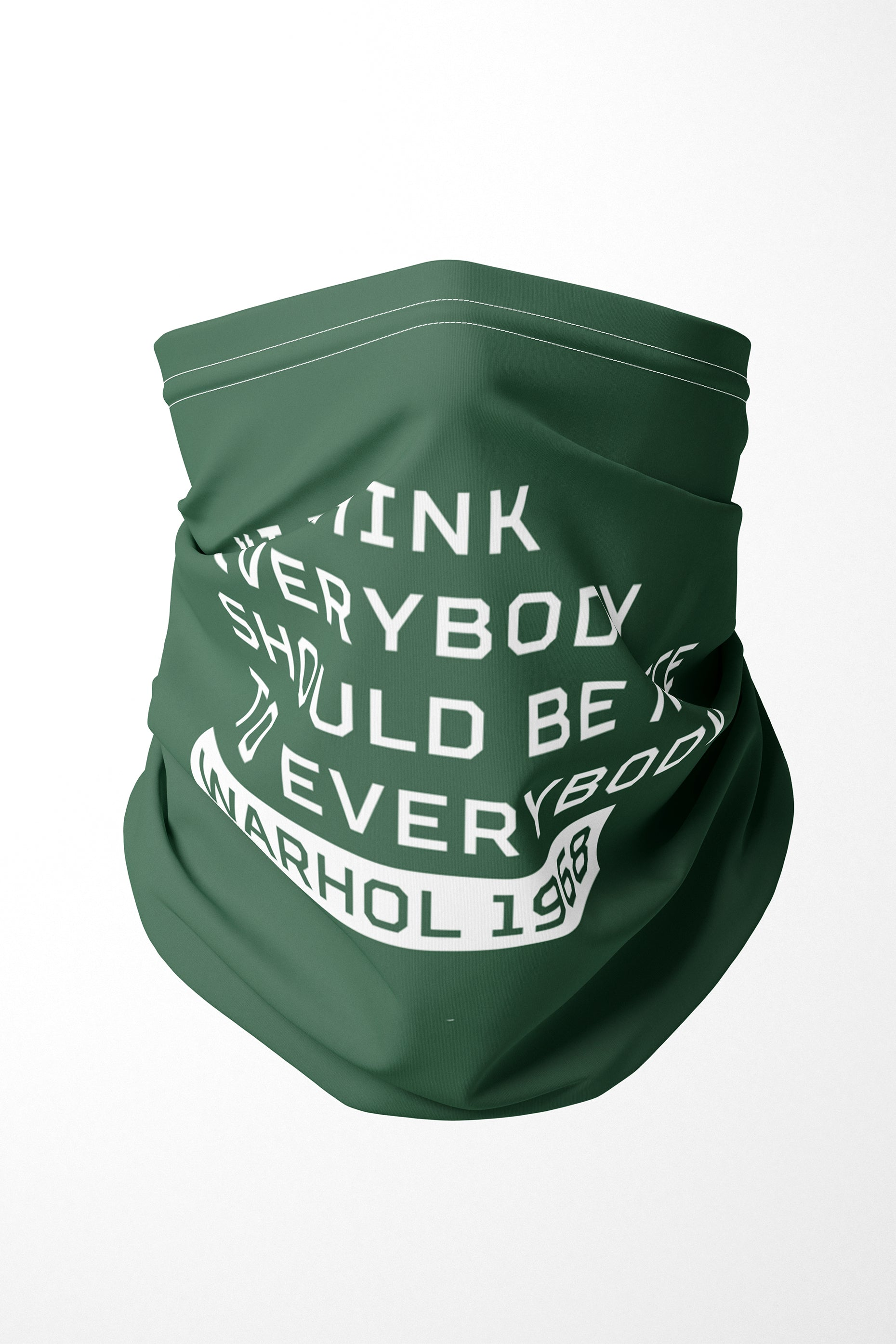 Warhol Everybody Should Be Nice Premium Adults Face Mask Neck Gaiter