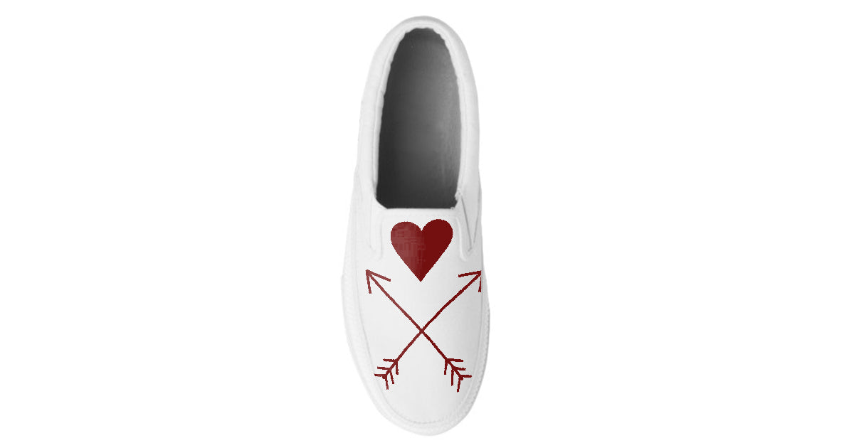Warrior Hearts Arrows Custom Slip On Shoes