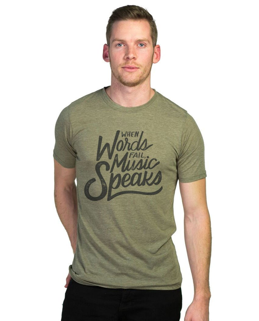 T-shirt - Music Speaks Premium Fitted Tee