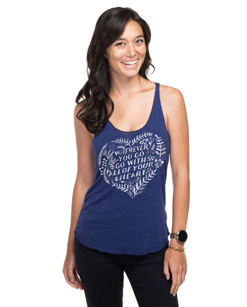 Wherever You Go Fitted Racerback Tank