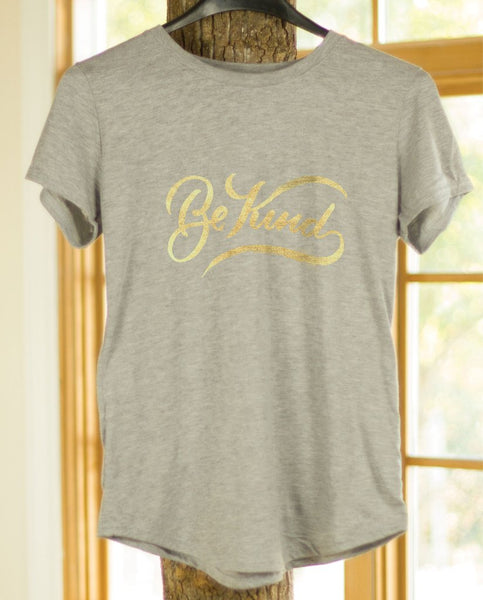 BE KIND Womens Grey Tee