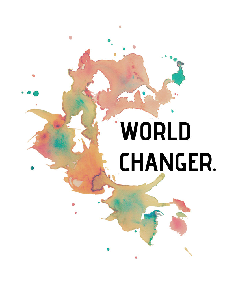 WORLD CHANGER Womens White Flowy V-Neck