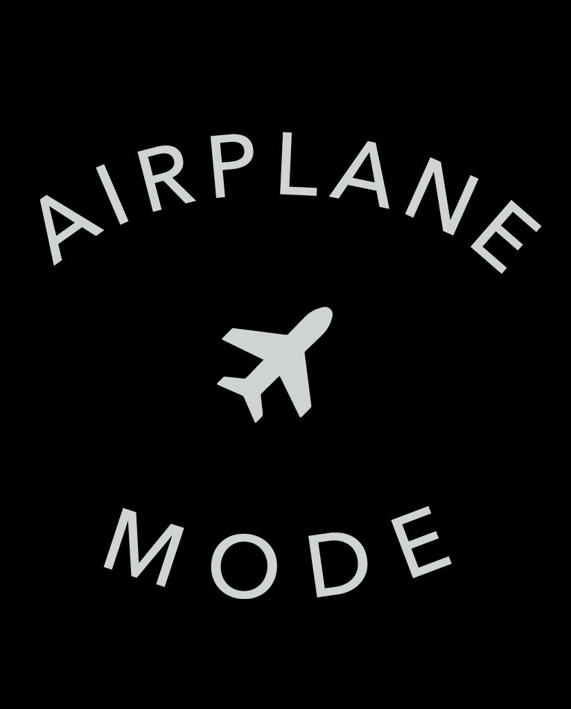 AIRPLANE MODE Unisex Black Triblend Short Sleeve Tee by Tech Wellness