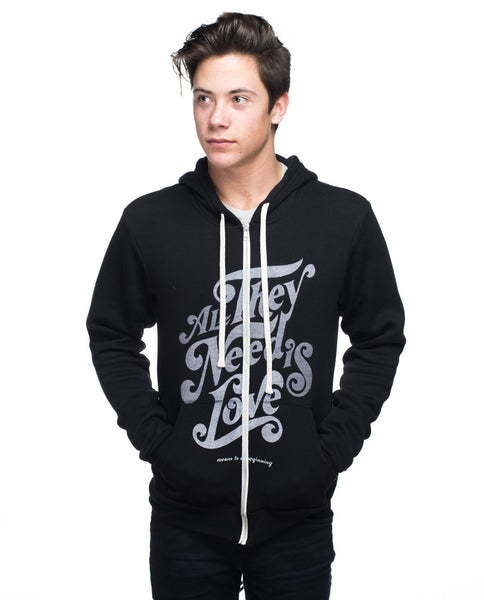All They Need Is Love Mens Hoodie