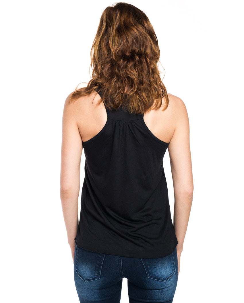 Through Storms Flowy Racerback Tank