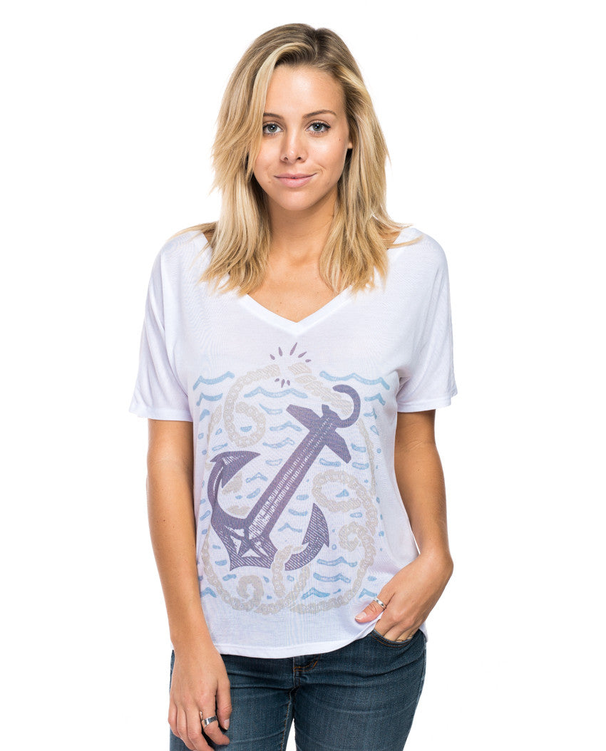 Anchor Rope Flowy V Neck