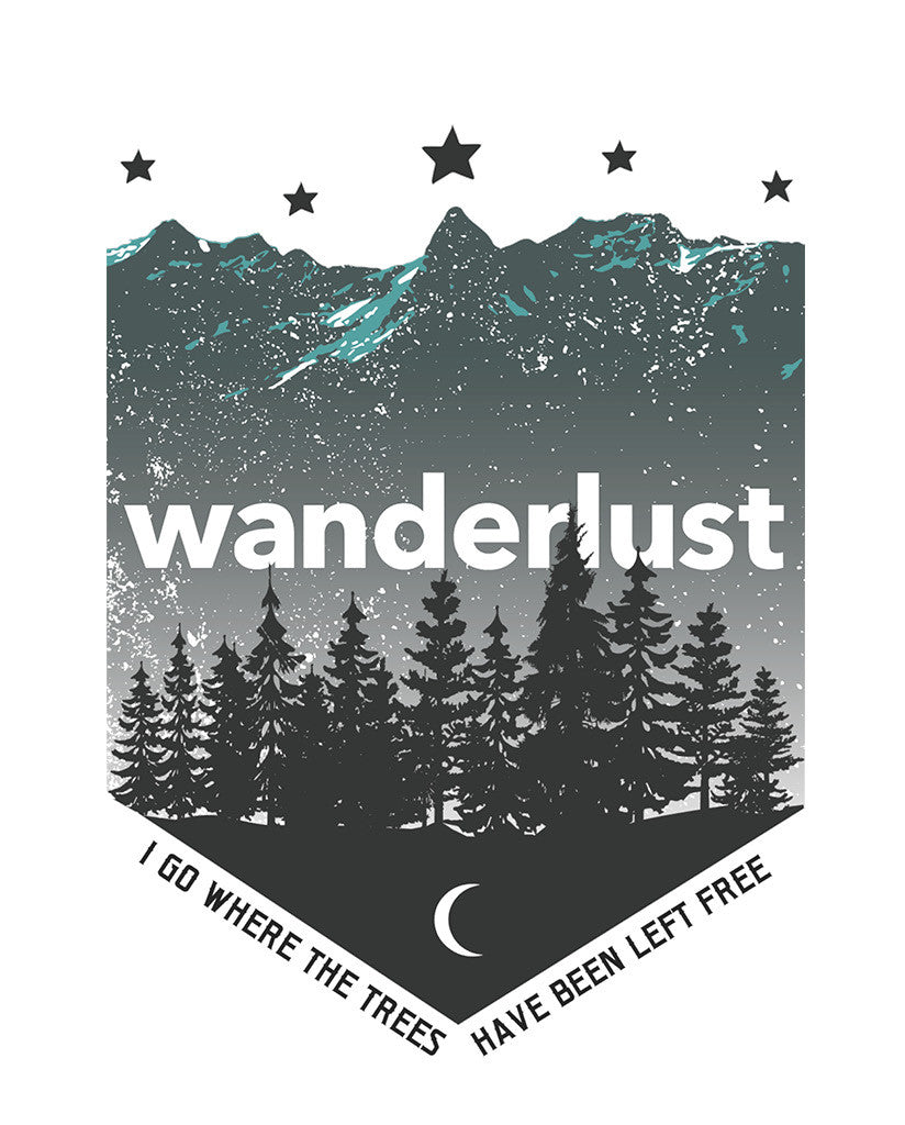 Wanderlust Mens Premium Fitted Tee