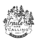 Trails Are Calling Mens Premium Fitted Tee