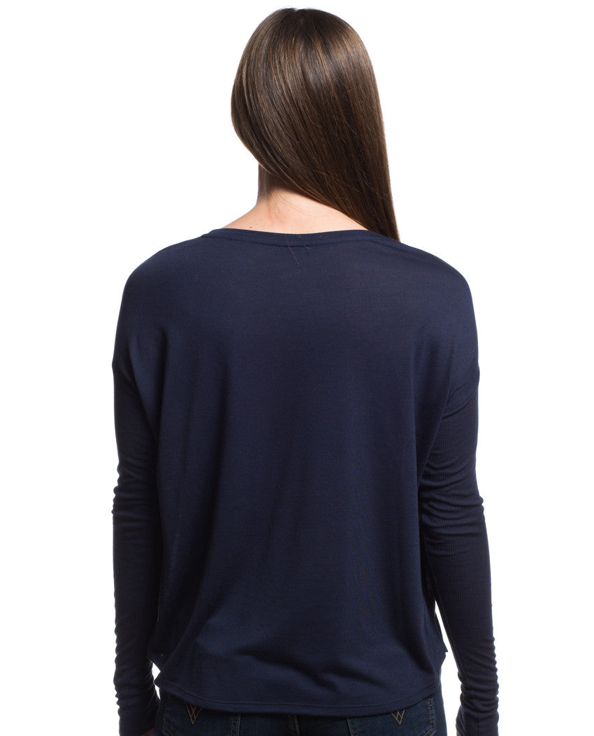 Be Brave With Giving Flowy Long Sleeve Tee