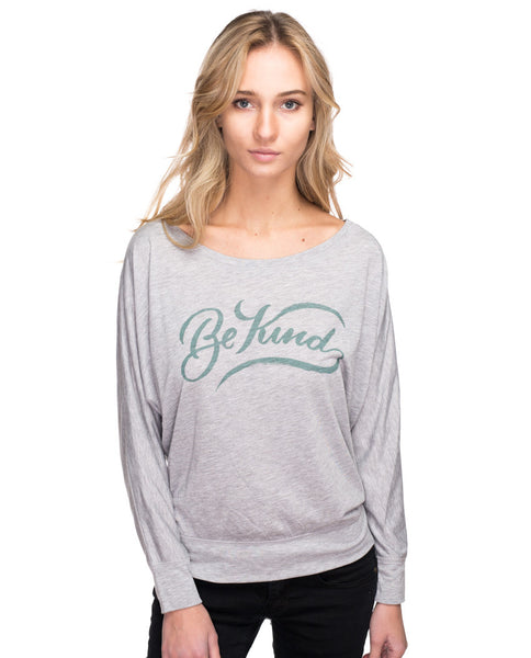Be Kind Flowy Long Sleeve Tee