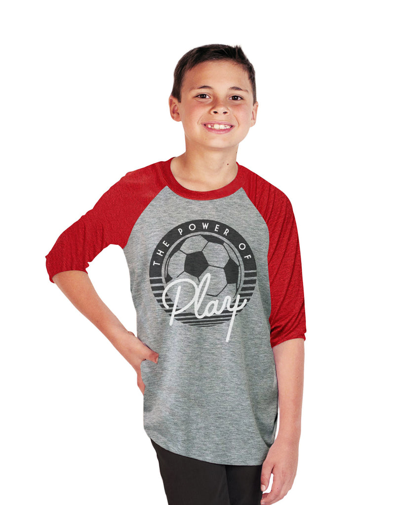 The Power Of Play Youth Vintage Baseball T Shirt