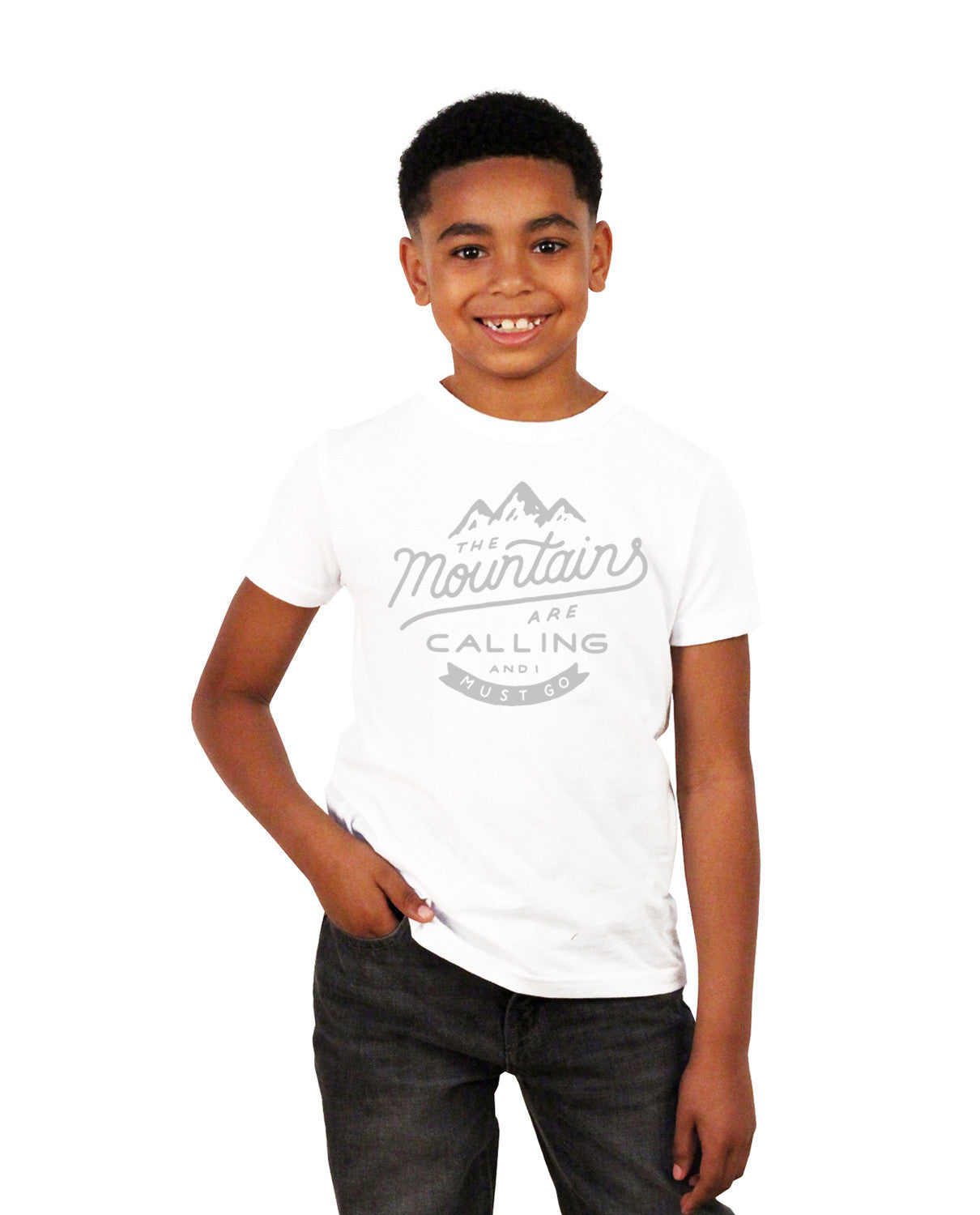 The Mountains Are Calling Boys Short Sleeve Tee