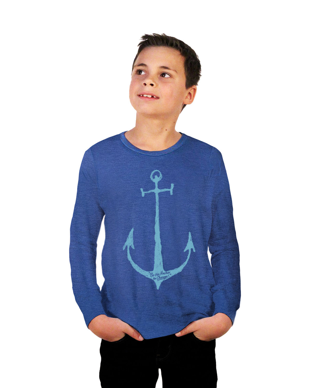 Anchor For Change Youth Jersey Long Sleeve Tee