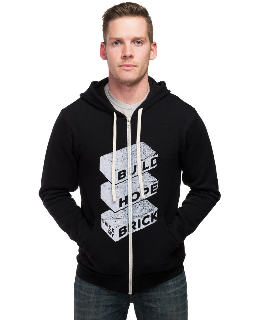 Build Hope Brick By Brick Mens Hoodie
