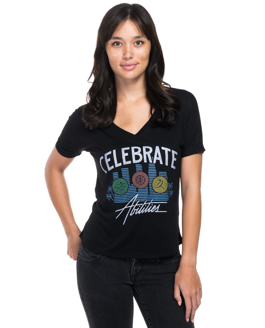 Celebrate Abilities Flowy V Neck