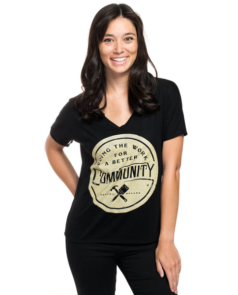 Better Community Flowy V Neck